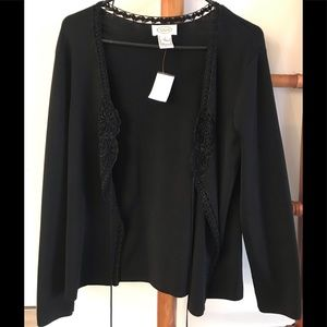 TALBOTS BLACK CARDIGAN